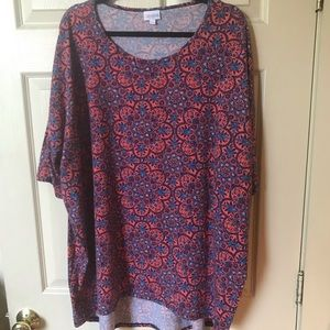 LulaRoe short sleeves shirt 3x
